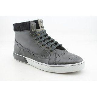 Uzzi Mens Size 10.5 Black Black Leather Athletic Sneakers Shoes Shoes