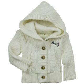 Levis Baby Girls Classic Cable Knit, Sweater, Vanilla 12