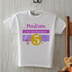 Kids Personalized Birthday T Shirts   Whats Your Number