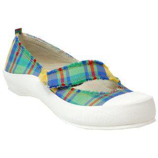 Original Dr. Scholls Womens Clipper Flat,Blue Plaid,9 M: Shoes