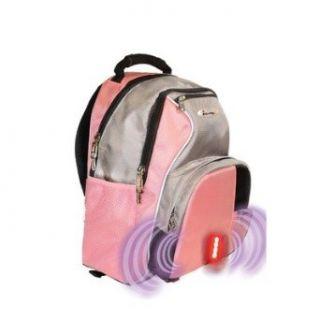 iSafe Built in Alarm School Backpack in Pink & Grey SC1005