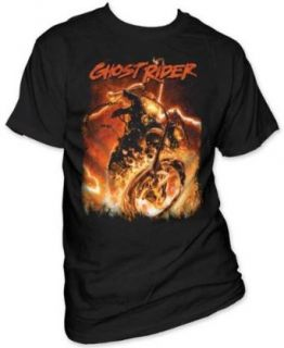 MARVEL GHOST RIDER    HELL CHAINS    MENS TEE Clothing