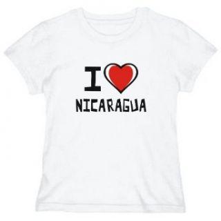I Love Nicaragua Womens T shirt Clothing