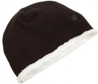 Isotoner Mens Isotoner Fleece Pull On Hat,Black,One Size