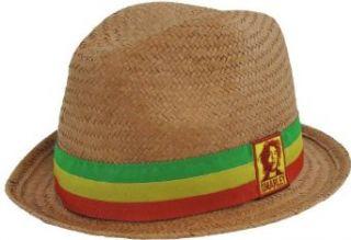 Bob Marley Rasta Straw Fedora (S/M) Clothing