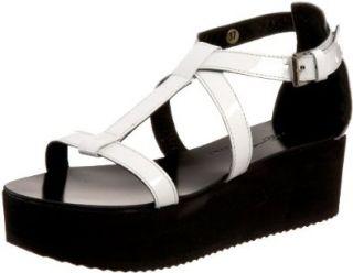 Womens Y10055 Sandal,Vernice Bianco,39 EU (US Womens 9 M) Shoes