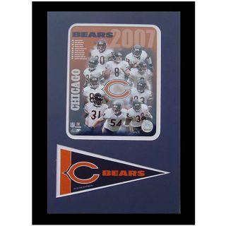 Chicago Bears 2007 Team 12x18 Framed Print with Pennant