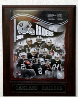 2008 Oakland Raiders Picture Plaque