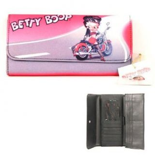 Betty Boop Checkbook Cover / ID Holder   Pink Clothing