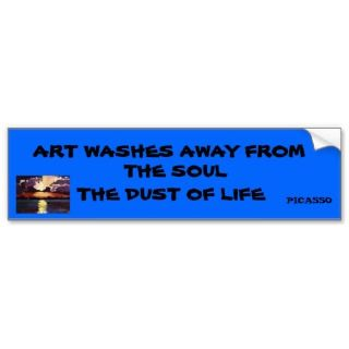 PABLO PICASSO QUOTE bumpersticker Bumper Sticker