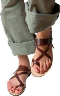 com Tan Mediterranean Style Mens Greek Leather Sandals Size 39 Shoes