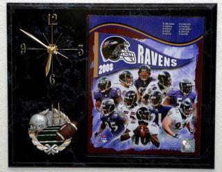2008 Baltimore Ravens Picture Clock
