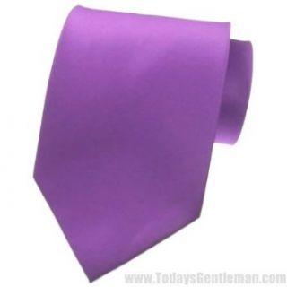 NEW SOLID Violet Purple SATIN Mens Necktie Neck Tie