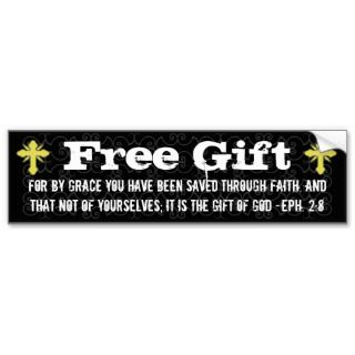 Free Gift Christian Bumper Sticker