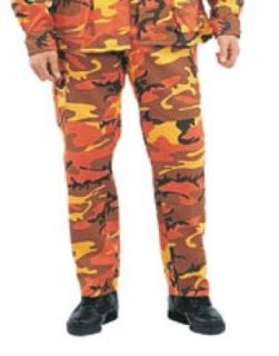 Mens Pants   Military BDU, Savage Orange Camo by Ultra