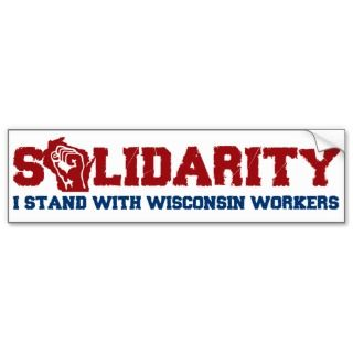 Wisconsin Solidarity Bumper Sticker