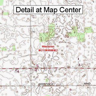 USGS Topographic Quadrangle Map   Wauseon, Ohio (Folded