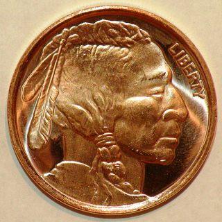 999 Pure Copper Bullion 2012 Indian Head Design Coin