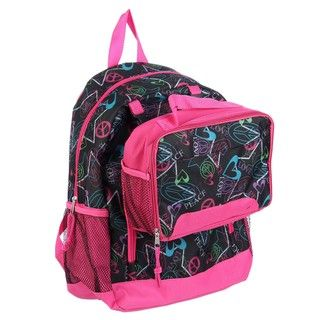 Granite Canyon Peace Love 16 inch Backpack with Lunch Tote