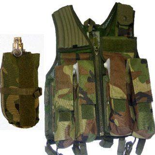 Rap4 Strikeforce Swat Paintball Vest Camo + Tank Pouch