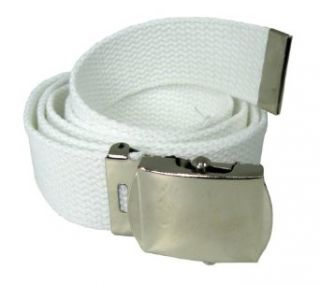 Nice Shades White One Size Canvas Military Web Belt With
