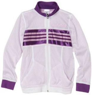 adidas Girls 7 16 High Flyer Jacket, White/Royal, Medium