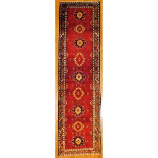 Persian Hand knotted Red/ Brown Tribal Hamadan Wool Rug (38 x 138)