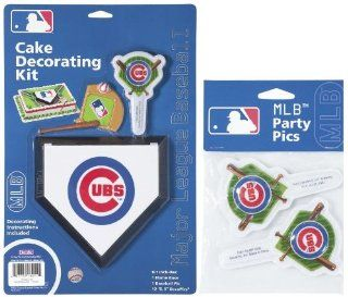MLB Chicago Cubs Lay on Cake/Cupcake Decorations Sports