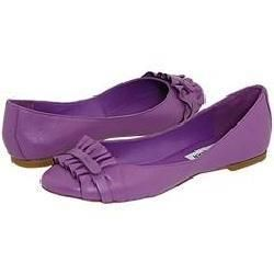 Steve Madden Karoll Purple Leather Flats