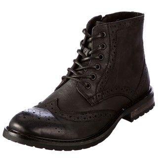 Steve Madden Mens Mansel Black Boots