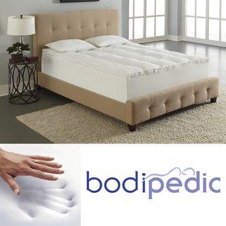 Bodipedic 4 inch Dual Layer Pillow Top Memory Foam Mattress Topper