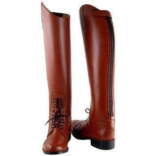 Victory Mens Field Boots tall english riding TAN All Sizes