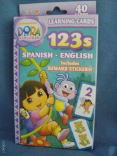 Dora 123 Spanish/English Learning Cards Party Accessory