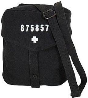 Swiss Gas Mask Bag, Black Clothing