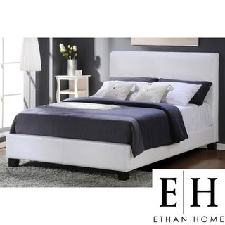 ETHAN HOME Castilian White Upholstery Full size Bed