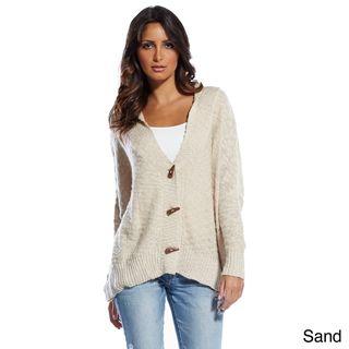 Elan Womens Toggle Closure Cardigan Sweater