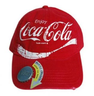 Coca Cola Bottle Opener Hat   Red Clothing