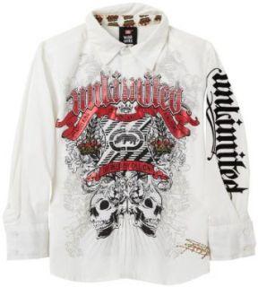 Ecko Boys 2 7 Ecko Unltd Woven Button Down Shirt,White,7
