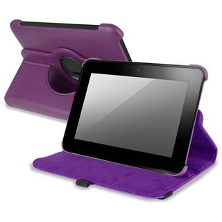 BasAcc Purple Leather Swivel Case for  Kindle Fire HD 7 INCH