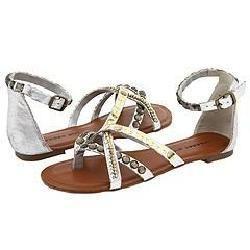 Madden Girl Brendahh Silver Metallic Sandals
