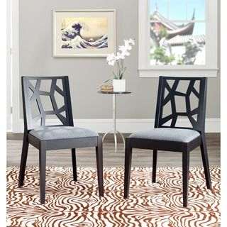 Chic Puzzles Grey/ Black Side Chair (Set of 2)