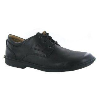 Clarks Sentry Plain Black Leather Mens Shoes Shoes