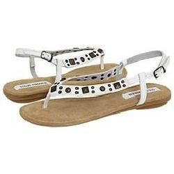 Steve Madden Chikaa White Leather Sandals