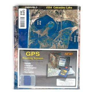Standard Mapping Calcasieu Lake Folded Map Sports