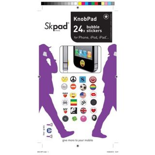 HOUSSE COQUE TELEPHONE SKPAD Pack 24 stickers pour iPhone / iPod