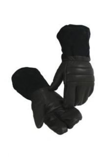 Caiman Leather Snowmobile Mittens (Mens L) Clothing