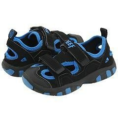 Reef Kids Lil Trekker Boys (Infant/Toddler/Youth) Black/Royal Sandals