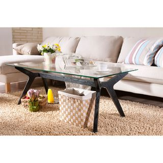 Enitial Lab Curtsy Kelly Glass Coffee Table
