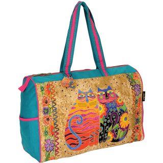 Flowering Feline & Friend Travel Bag (21 x 8 x 15)