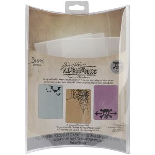 Sizzix Tim Holtz Spooky Things Embossing Folders (Pack of 3